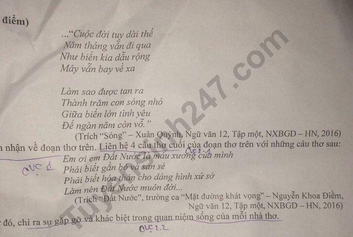 De thi thu THPTQG mon Van Chuyen Thai Binh 2020 lan 2