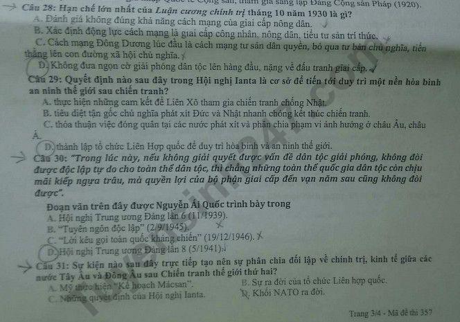 De thi thu THPT Quoc gia mon Su Chuyen Quoc hoc Hue 2020 lan 1
