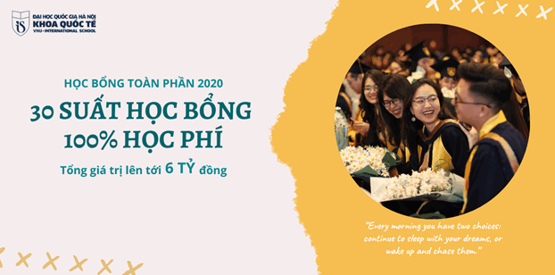 30 suat hoc bong tuyen thang cho si tu 2k2 vao Khoa Quoc te - DHQGHN 2020