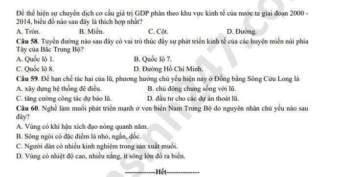 De thi thu vao 10 mon To hop nam 2020 So Vinh Phuc