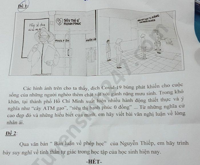De thi hoc ki 2 mon Van lop 8 THCS Hoang Hoa Tham nam 2020