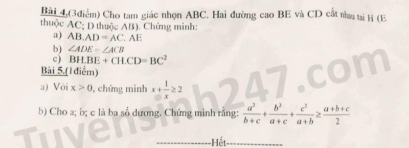 De thi hoc ki 2 mon Toan lop 8 THCS Phung Chi Kien nam 2020