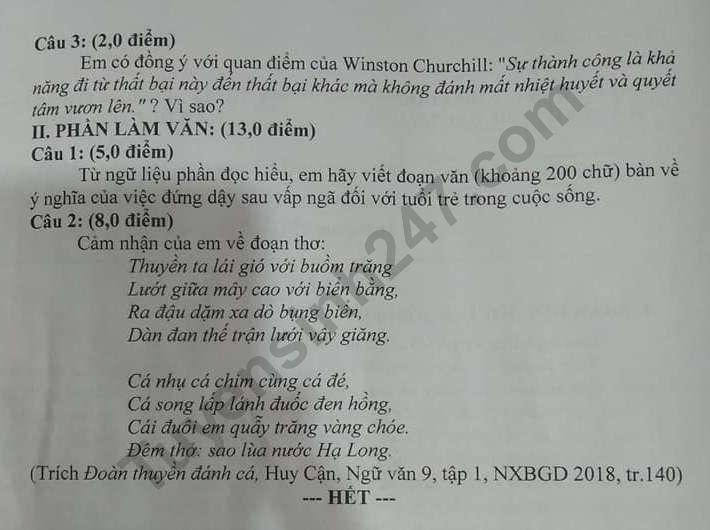 De thi vao lop 10 tinh Bac Lieu mon Toan, Anh, Van 2020 - Co dap an