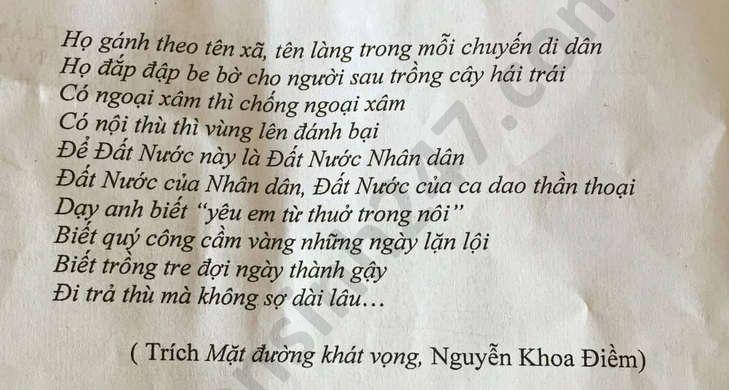 De thi thu THPTQG mon Van THPT Vinh Linh nam 2020 lan 2