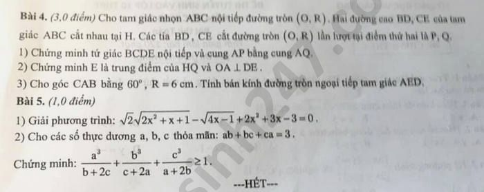 Dap an de thi vao lop 10 nam 2020 mon Toan tinh Nam Dinh