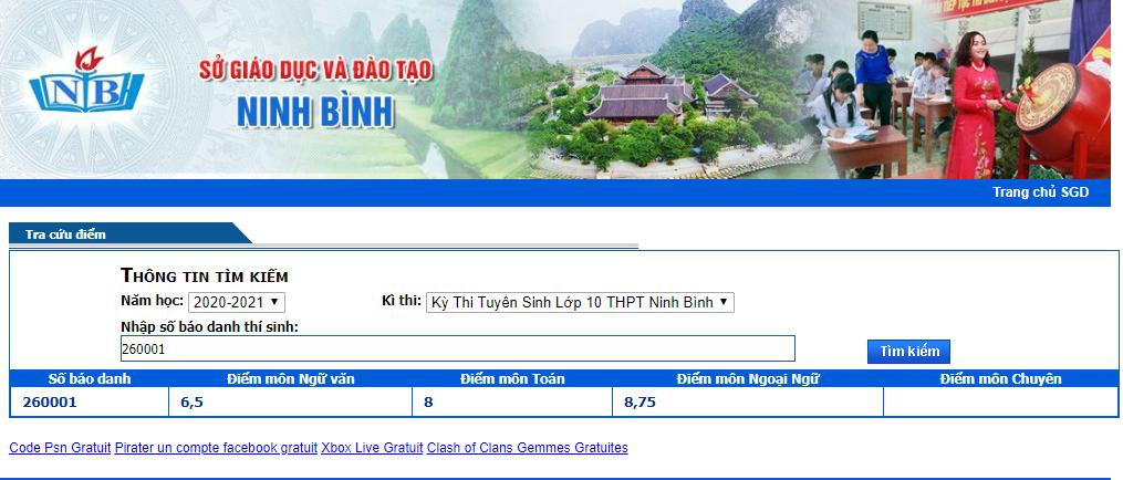 Da co diem thi vao lop 10 Ninh Binh nam 2020