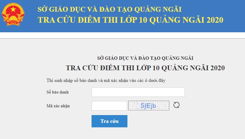 Quang Ngai cong bo diem thi vao lop 10 nam 2020