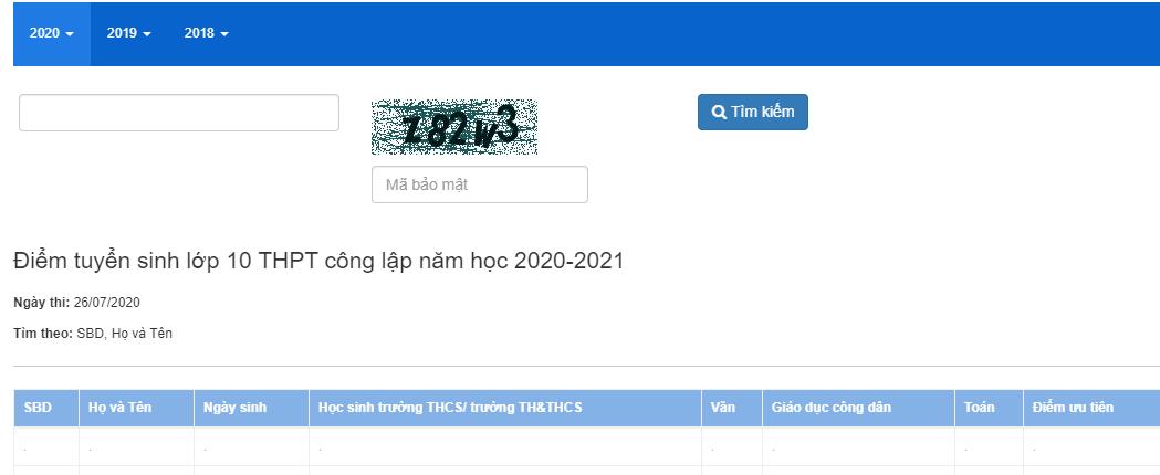 Da co diem thi vao lop 10 Thai Binh nam 2020