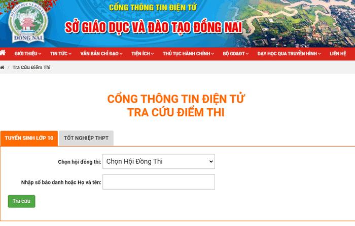 Da co diem thi vao lop 10 Dong Nai nam 2020