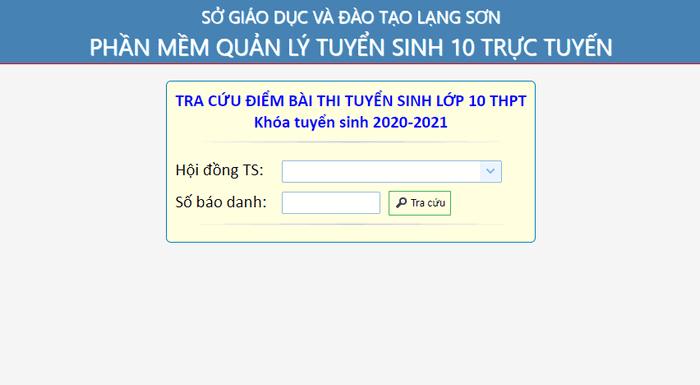 Diem thi vao lop 10 Lang Son 2020