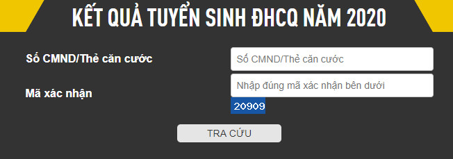 Tra cuu ket qua trung tuyen DH Cong Nghe-DHQG Ha Noi 2020