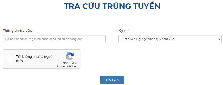 Tra cuu ket qua trung tuyen 2020 Dai hoc Cong Nghiep Ha Noi