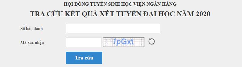 Tra cuu ket qua trung tuyen HV Ngan Hang nam 2020