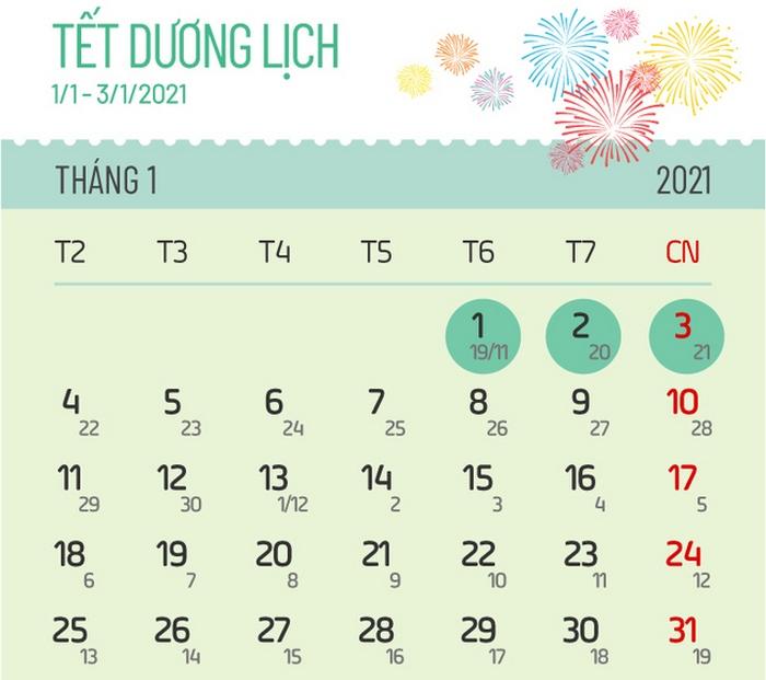 Lich nghi Tet duong lich 2021 cua hoc sinh Ha Noi
