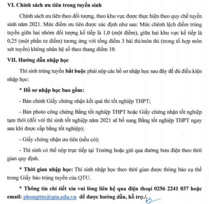 Dai hoc Quang Trung cong bo phuong an tuyen sinh nam 2021