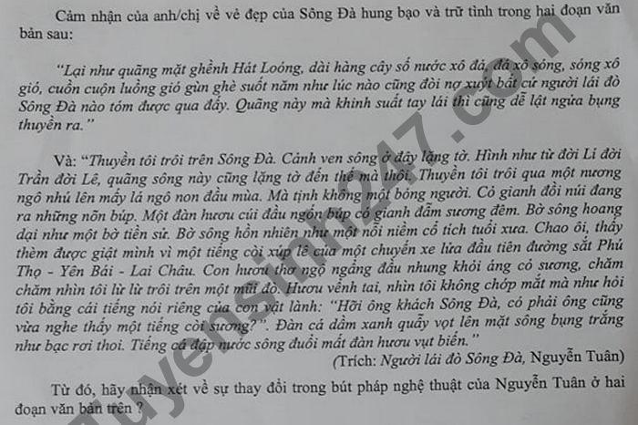 De thi thu Tot nghiep THPT 2021 lan 1 mon Van THPT Chuyen Lao Cai