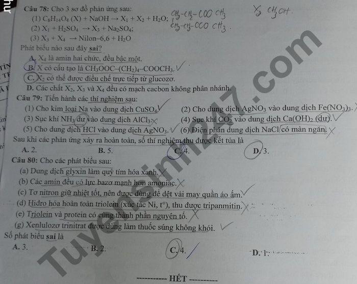 De thi thu Tot nghiep THPT mon Hoa lan 1 cum truong THPT TP Vung Tau 2021