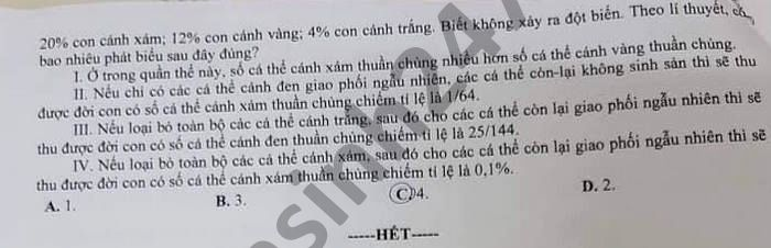 De thi thu THPTQG 2021 mon Sinh THPT chuyen Long An lan 1