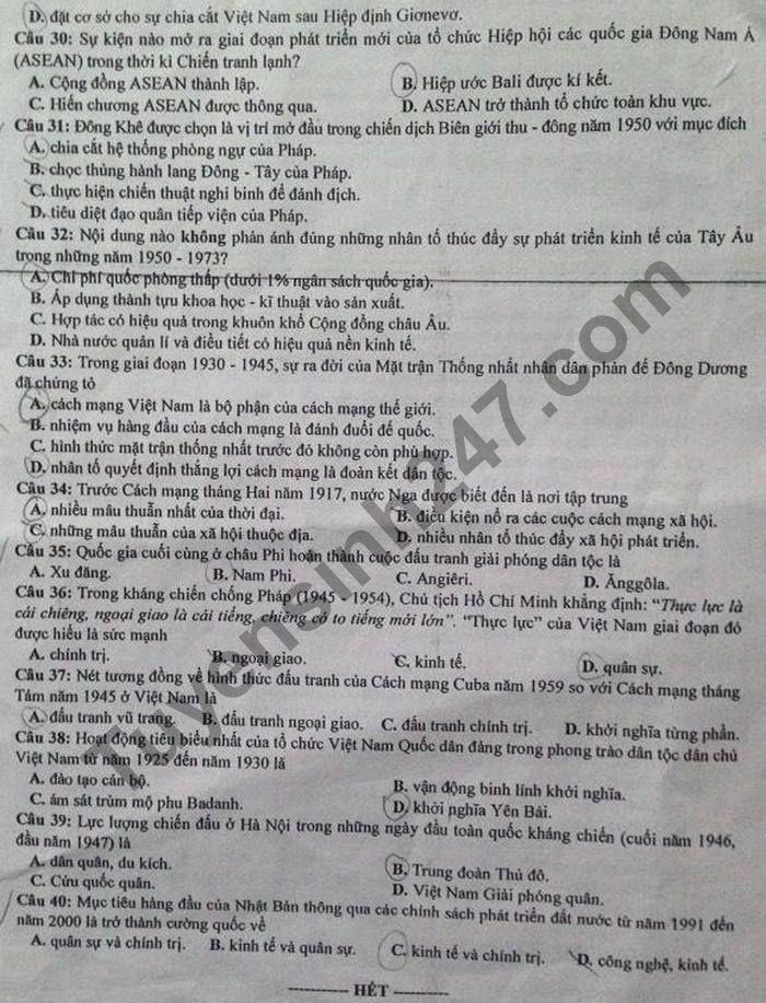 De thi thu tot nghiep THPT 2021 So GD Ninh Binh mon Su