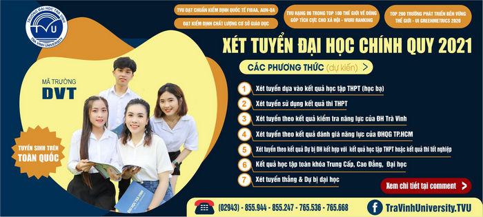 Phuong thuc tuyen sinh Dai hoc Tra Vinh 2021
