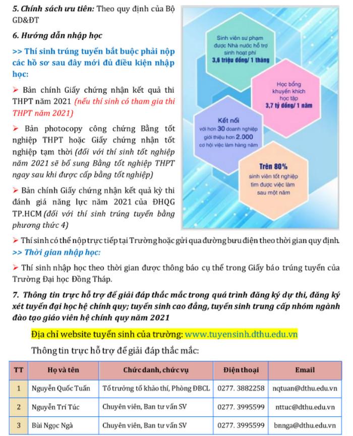 Phuong an tuyen sinh Dai hoc Dong Thap 2021