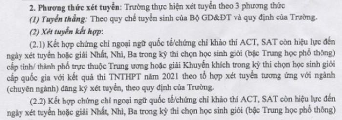 Phuong an tuyen sinh Dai hoc Thuong mai du kien 2021