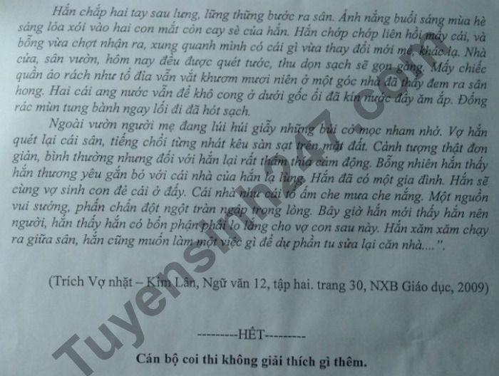 De thi thu tot nghiep THPT 2021 mon Van lan 2 Cum chuyen mon 01