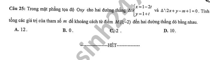 De thi giua hoc ki 2 nam 2021 Toan lop 10 THPT Nguyen Khuyen