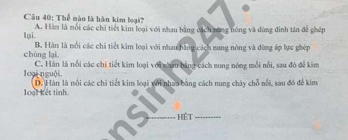De thi giua ki 2 Cong Nghe lop 11 THPT Nguyen Binh Khiem 2021