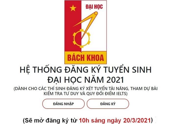 DH Bach khoa Ha Noi nhan ho so xet tuyen thang tu 20/3