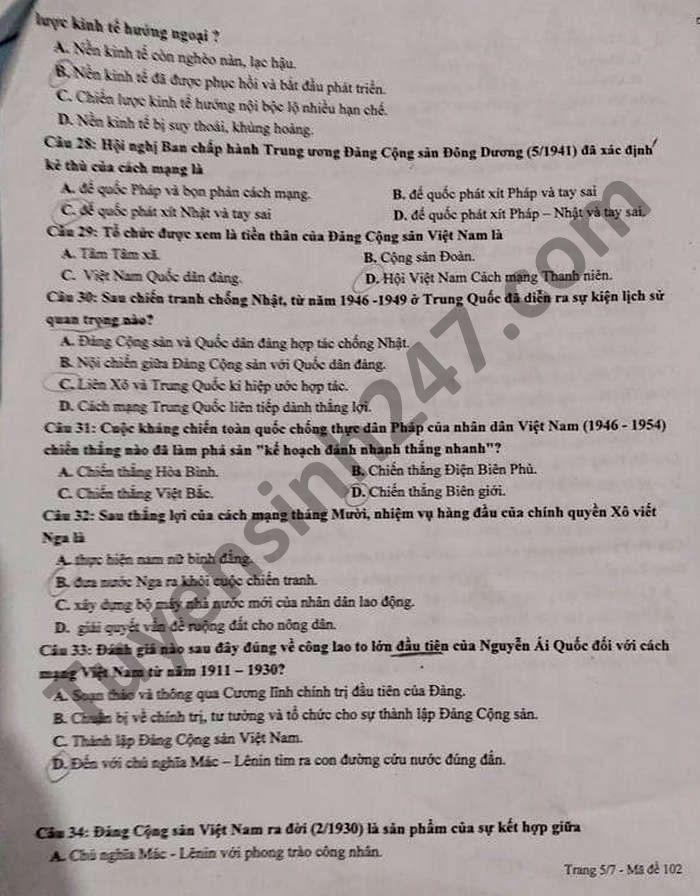 De thi thu tot nghiep THPT 2021 lan 1 mon Su THPT Thanh Chuong 1