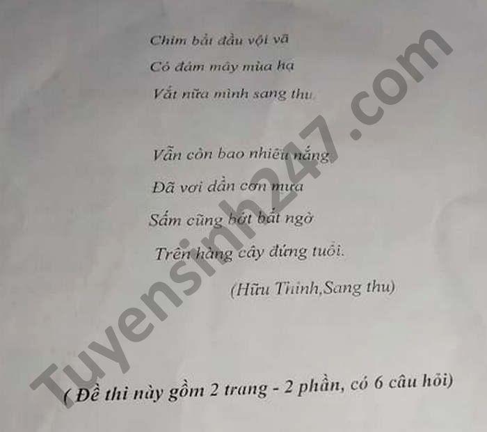 De thi thu vao lop 10 THCS Hoang Thanh mon Van nam 2021