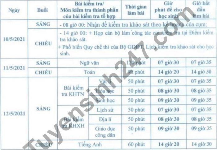 So GD Ha Noi cong bo lich thi khao sat hoc sinh lop 12 - Chi tiet