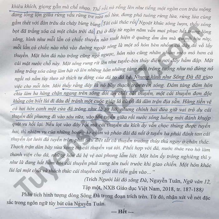 De thi thu tot nghiep THPT 2021 lan 2 mon Van lien truong THPT Nghe An (Co dap an)