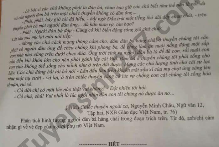 De thi thu tot nghiep THPT nam 2021 mon Van tinh Hung Yen