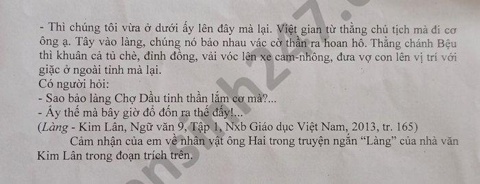 De thi thu vao lop 10 nam 2021 mon Van Phong GD Con Cuong lan 1