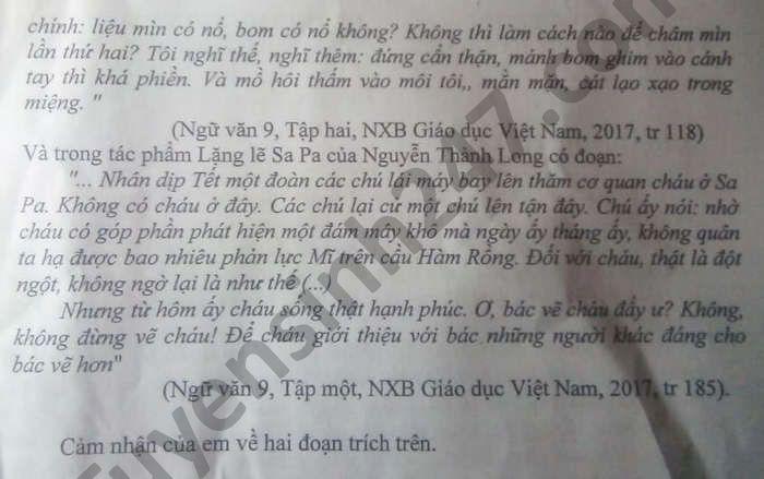 De thi thu vao lop 10 mon Van nam 2021 THCS Ha Chau