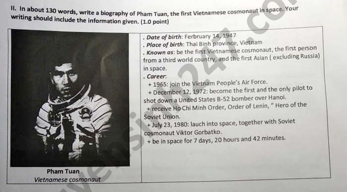 De thi hoc ki 2 mon Anh lop 11 THPT Hung Dao nam 2021