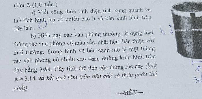 De thi hoc ki 2 Huyen Lai Vung mon Toan lop 9 nam 2021