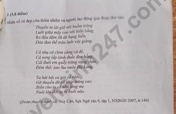 Dap an de thi vao lop 10 nam 2021 mon Van tinh Ninh Binh