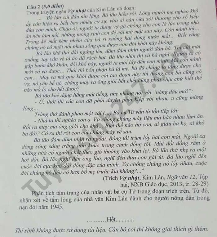 De thi thu tot nghiep THPT nam 2021 tinh Kien Giang mon Van