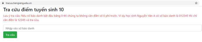 Da co diem thi vao lop 10 tinh Tien Giang 2021