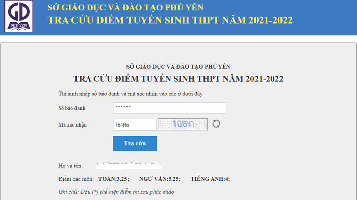 Da co diem thi vao lop 10 tinh Phu Yen nam 2021