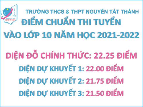 Truong THCS THPT Nguyen Tat Thanh cong bo diem chuan 2021