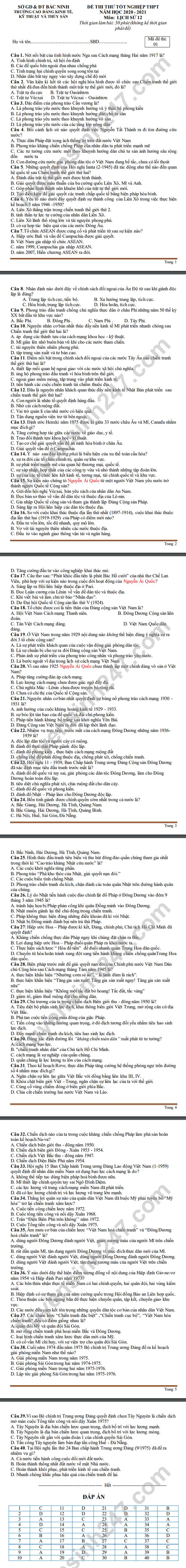 De thi thu tot nghiep THPT 2021 CD Kinh Te, Ky Thuat va Thuy San mon Su