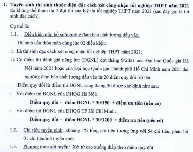 Dai hoc Kinh te Quoc dan tuyen 54 thi sinh dac cach tot nghiep 2021