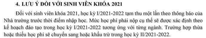 Hoc phi Dai Hoc Su Pham Ky Thuat TPHCM nam 2021 - 2022
