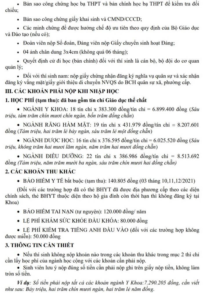 Khoa Y Duoc - Dai hoc Da Nang huong dan nhap hoc nam 2021
