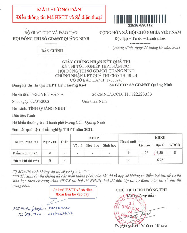 Dai hoc Cong nghiep Ha Noi huong dan xac nhan nhap hoc 2021