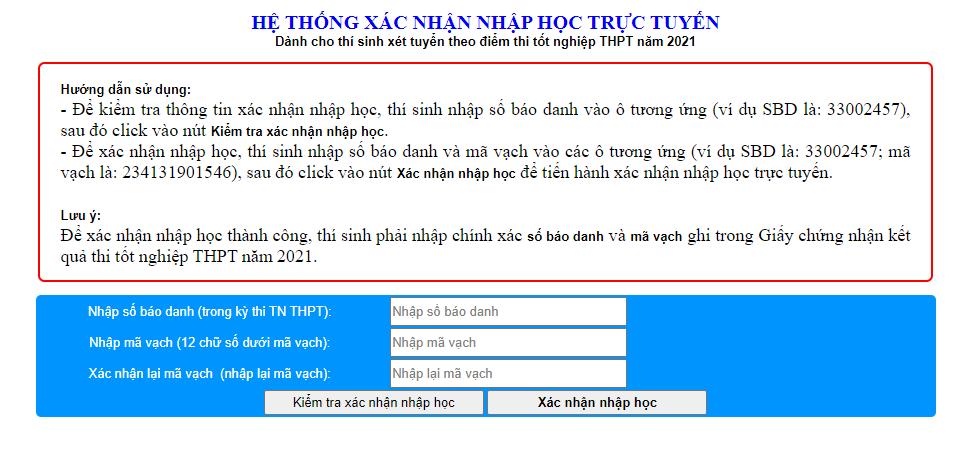 Thu tuc nhap hoc nam 2021 Phan hieu Dai hoc Hue tai Quang Tri